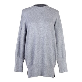 Round Neck Mid-length Solid Color Long-sleeved Sweater NSJR36739
