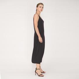 Solid Color Loose Pocket Suspender Dress NSJR36764