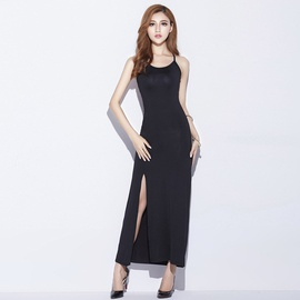 Sexy Suspender Split Long Dress NSJR36785