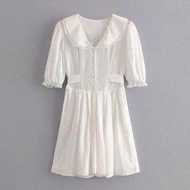 Embroidery Lace Waist A-line Skirt  NSAM37170