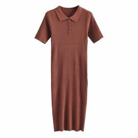 New Style Polo Collar Slim Dress  NSAM37189