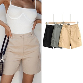 Solid Color Casual Fashion Simple Shorts  NSLD37193