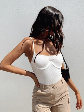 Casual Simple Solid Color Sling Jumpsuit NSLD37194