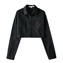 Casual Simple Solid Color Lapel Jacket  NSLD37210