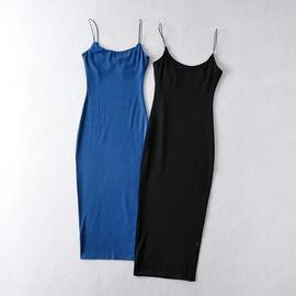 Fashion Tight Elastic Slim-fit Suspender Long Skirt  NSAC37233