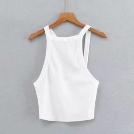 Sexy Irregular Shoulder Strap Vest  NSHS37286