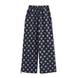 Fashion Sports Spring New Elastic Waist Print Pants NSHS37287