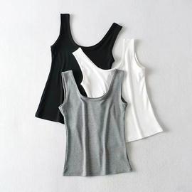 Pure Color Elastic Thread Vest  NSHS37290
