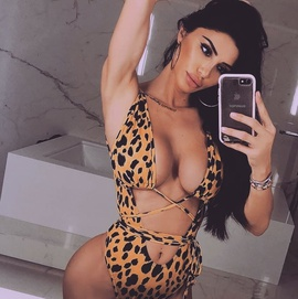 New Leopard Print Hollow Strap One-piece Swimsuit NSDA37291