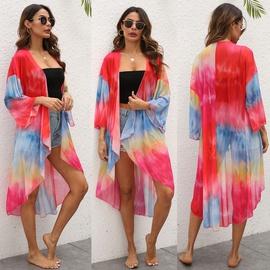 Dyeing Irregular Mesh Yarn Beach Jacket  NSOY37305