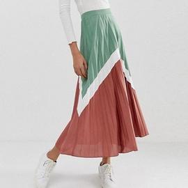 Stitching High Waist Skirt  NSXS37324