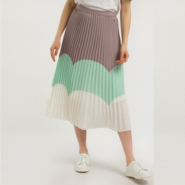 Pleated Stitching Mid-length Skirt NSXS37333