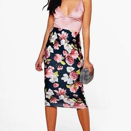 Printing All-match Mid-length Skirt  NSXS37337