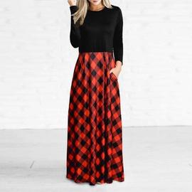 Fashion Long-sleeved Dress  NSXS37379