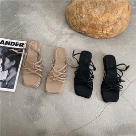 Summer New Low-heeled Cross Belt Fashion Sandals  NSHU37596