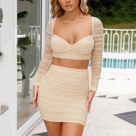 Two-piece Sexy Short Skirt Suit NSFD37743