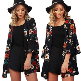 Fashion Printed Loose Cardigan Jacket NSGE37796