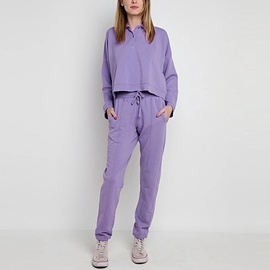 Solid Color Shirt Collar Long-sleeved Top Sweatpants Set NSGE37821