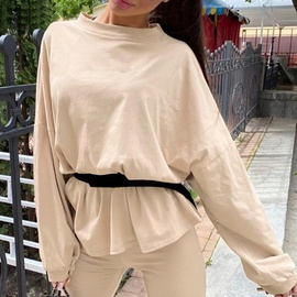 Solid Color Long-sleeved T-shirt Three-piece Suit NSGE37859