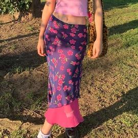 Fashion Print Chiffon Slim Long Skirt NSLQ37959