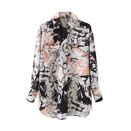 Printed Single-breasted Long-sleeved Shirt NSAM38010