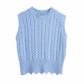 Knitted Pattern Knitted Vest  NSAM38027