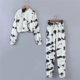 Tie-dye Sweatshirt Two-piece Suit NSLD38048