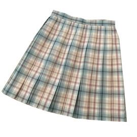 Contrast Color Plaid High Waist Skirt  NSLD38070