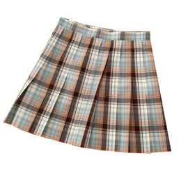 High Waist Fashion Contrast Color Plaid Skirt NSLD38071
