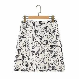 Casual Fashion Simple Graffiti Printed Skirt  NSLD38078
