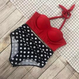 High Waist Split Bikini  NSHL38156