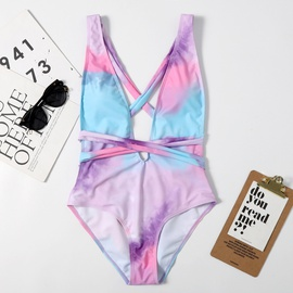 Strappy Printed One-piece Sexy Swimsuit  NSHL38180