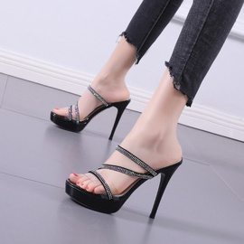 Fashion Heel Stiletto Slippers   NSCA38205
