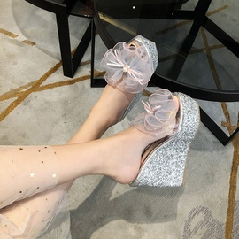 Cake Thick-soled Transparent Fish Mouth Shoes  NSCA38224