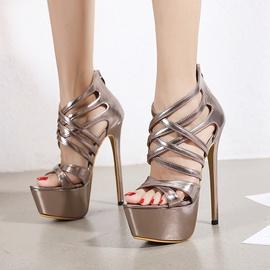 Stiletto Cross Strap Sandals   NSCA38229