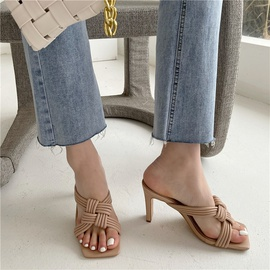 Soft Leather High-heeled Sandals  NSCA38245
