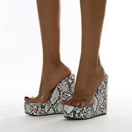 New One-word Wedge Heel Sandals  NSCA38247