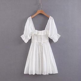 Lace Halter Short Dress Beach Skirt  NSAM34781