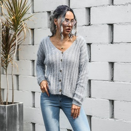 Fall/winter New Fashion Casual Deep V-neck Sweater NSMY34834