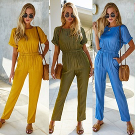 Spring And Summer New Products Solid Color Jumpsuit NSDY34869