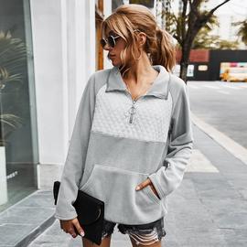 Lapel Color Matching Sweatshirt NSDY34875