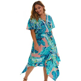 Plus Size Boho Print Dress NSDY34880