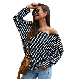 Long-sleeved Striped T-shirt Sweaters  NSDY34892