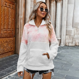 Thickened Polo Collar Fleece Sweatshirt NSDY34893