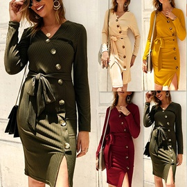 Autumn And Winter New Fashion Knitted Dress  NSDY34895
