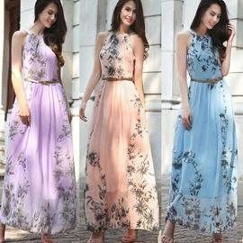 Plus Size New Chiffon Printed Dress  NSYD34909