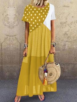 Summer New Dot Stitching Plaid Sleeveless Dress  NSYD34913