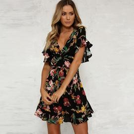 Summer Mid-length Belt Dress  NSYD34940
