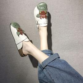 Cartoon Calf Decoration Flat-bottomed Sandals  NSPE34968