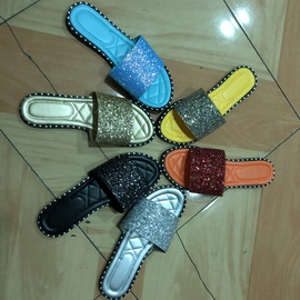 Fashion Simple Low-top Shiny Soft Sole Sandals  NSPE34970